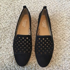 🆕Franco Sarto | Black Suede Perforated Loafer 8.5